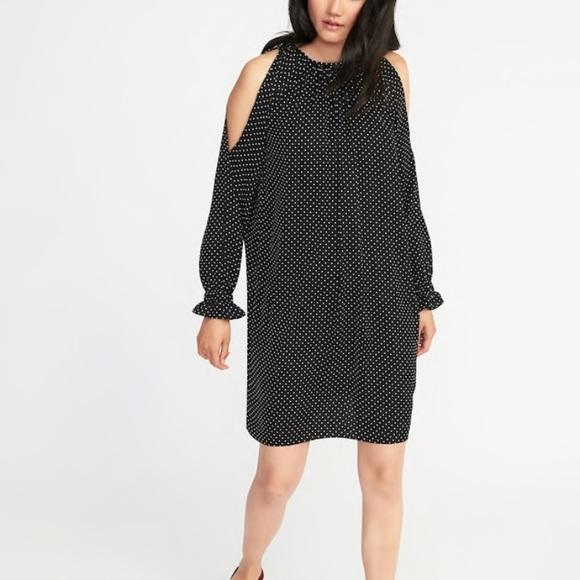 420b152dbd41 Old Navy Dresses | Coldshoulder Swing Dress Polka Dot Xxl | Poshmark